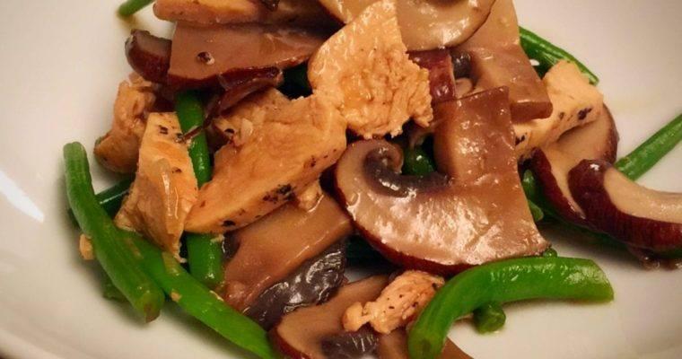 Chicken, Portobello Mushroom, & Green Bean: One Pot Meal