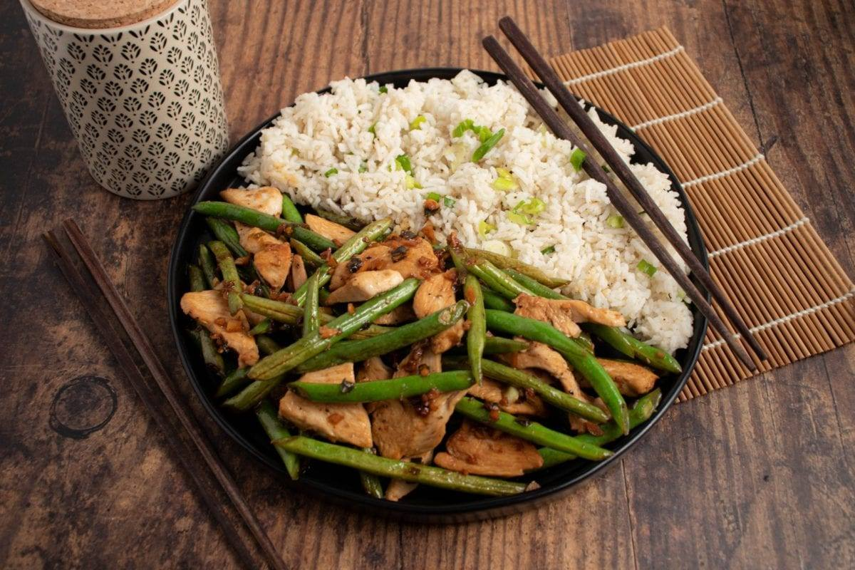 Ginger Beans and Chicken Stir Fry Meal Prep Meal Planning Counting Macros