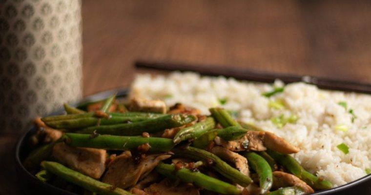 Ginger Beans and Chicken Stir Fry