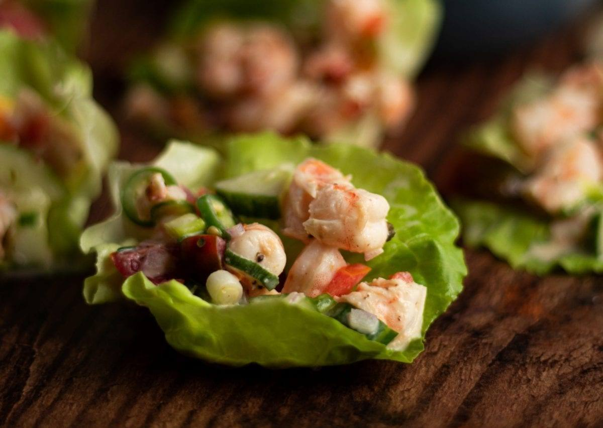 Spicy Shrimp Lettuce Wraps