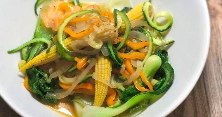 Zucchini & Baby Corn Bowl