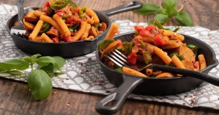 Chicken Sausage Pepper Ziti
