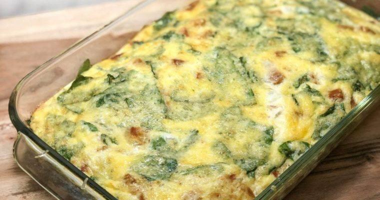 Chicken & Spinach Egg White Casserole
