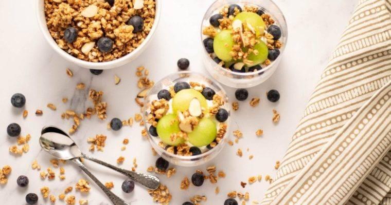 Honeydew Blueberry Yogurt Parfait