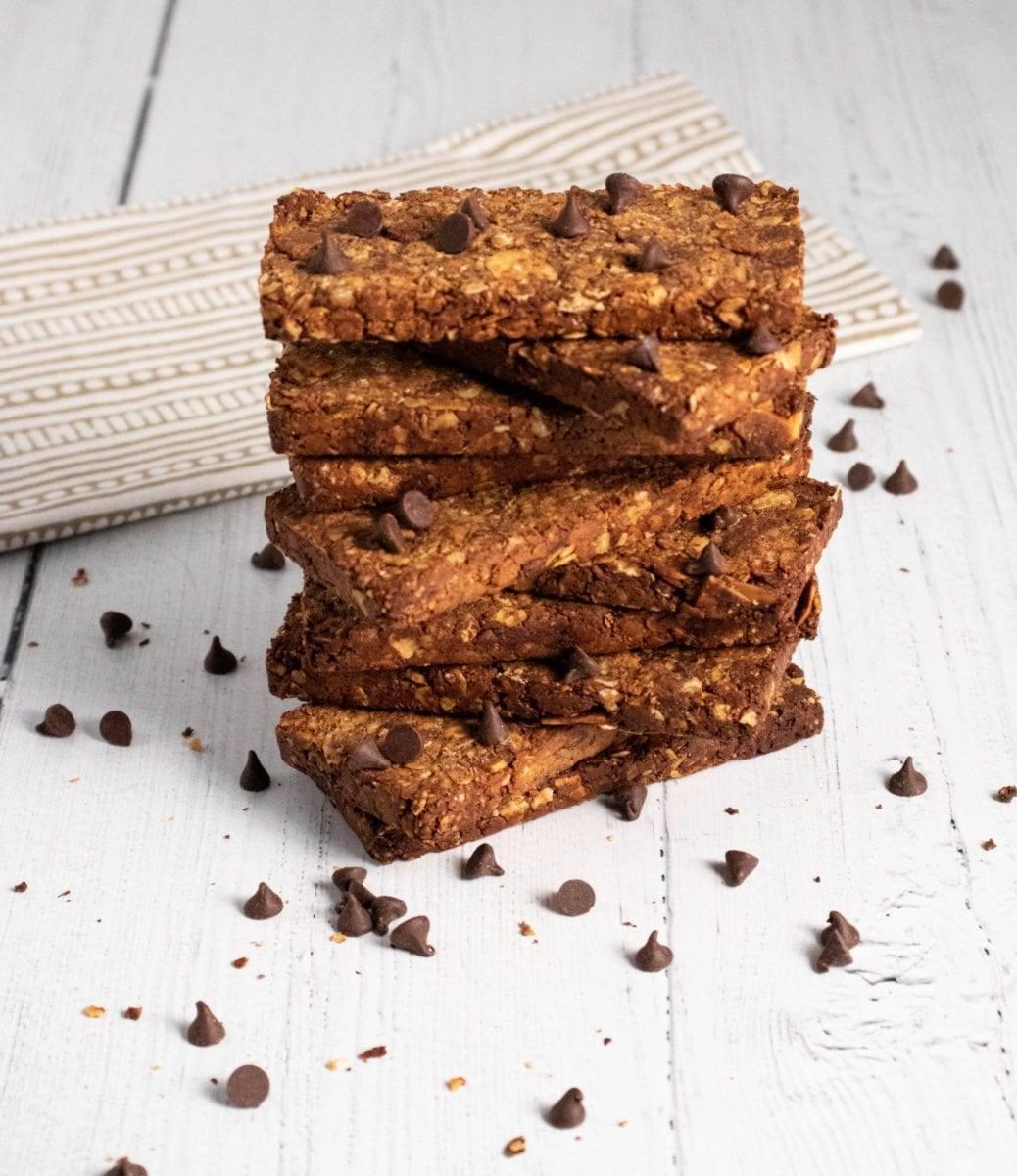 Chocolate Granola Almond Bars Meal prep Counting Macros