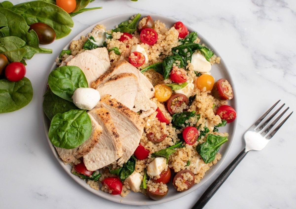 Chicken Caprese Quinoa Salad