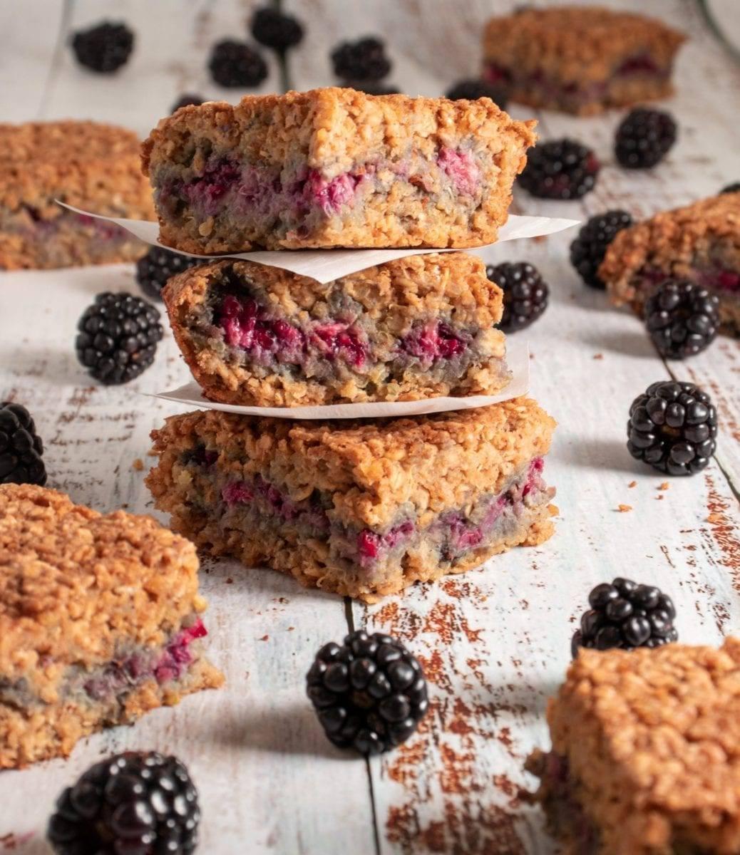 Blackberry Quinoa Energy Bars