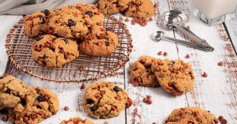 Cinnamon Chip & Blueberry Breakfast Cookies