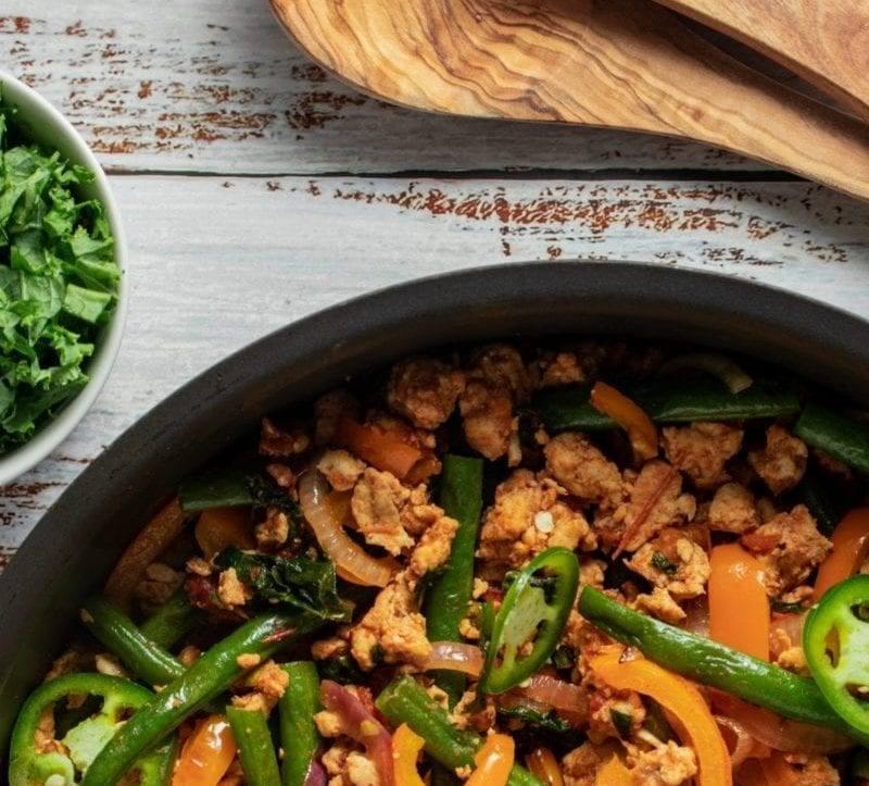 Turkey, Kale, & Green Bean One Skillet Meal