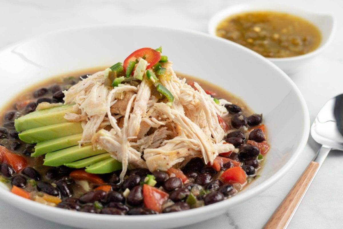 Easy, Chicken and Black Bean Soup
