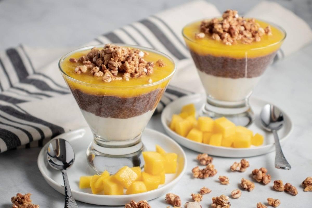 Chocolate and Mango Chia Seed Parfait