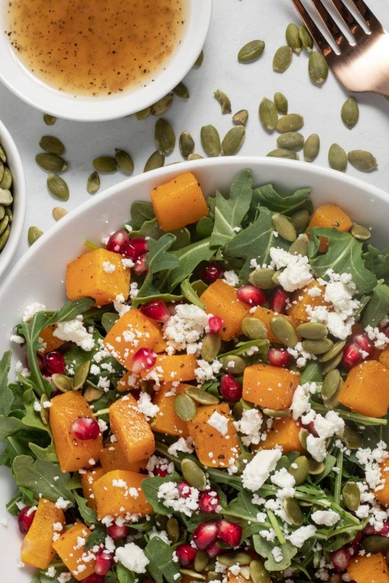 roasted butternut squash salad meal planning counting macros meal prep