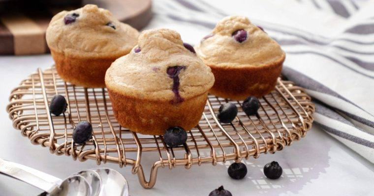 Blueberry Pancake Protein Muffins