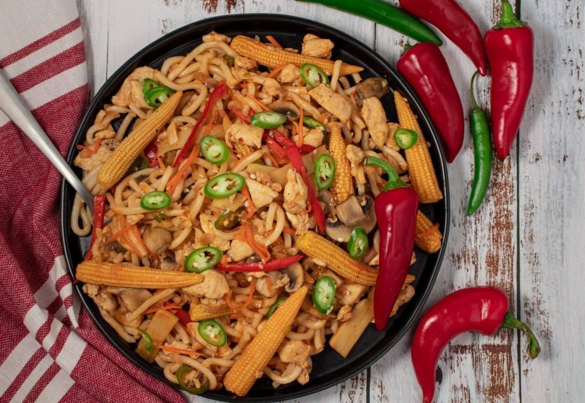 Spicy Udon Stir Fry