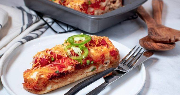 Chicken Enchiladas with Onions and jalapeños