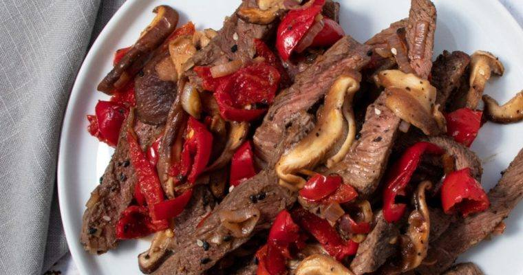Mushroom and Cherry Pepper Steak