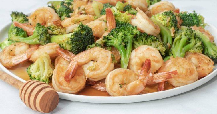 Honey Soy Shrimp and Broccoli