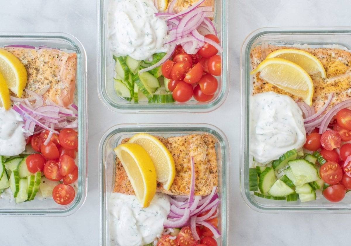 Easy Greek Salmon Bowl