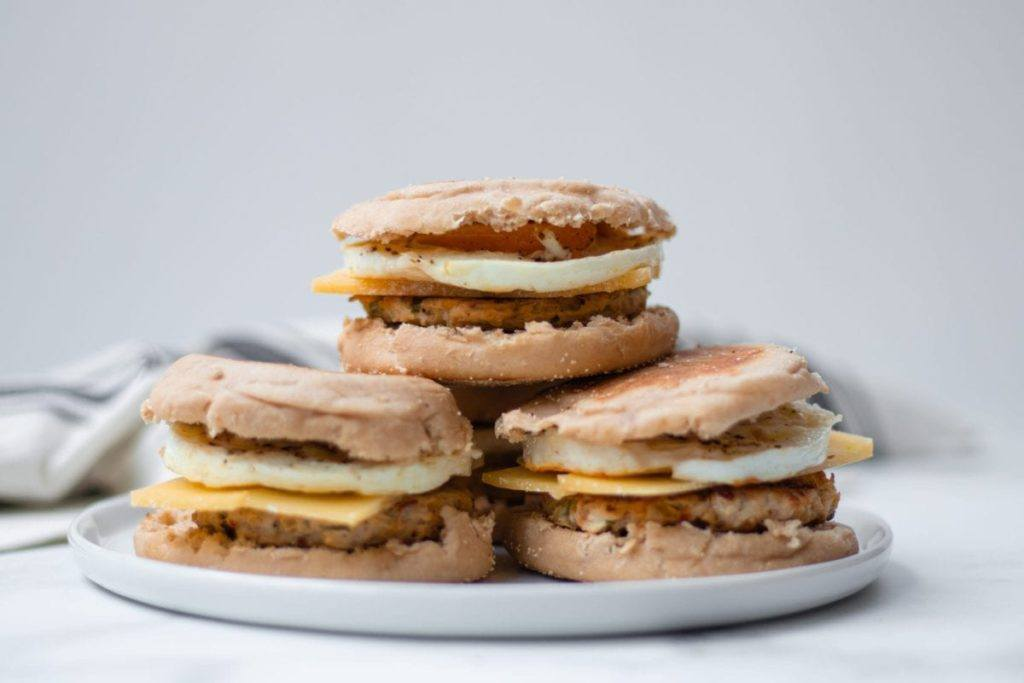 Spicy Chicken Sausage Breakfast Sandwich Meal Prep Counting Macros