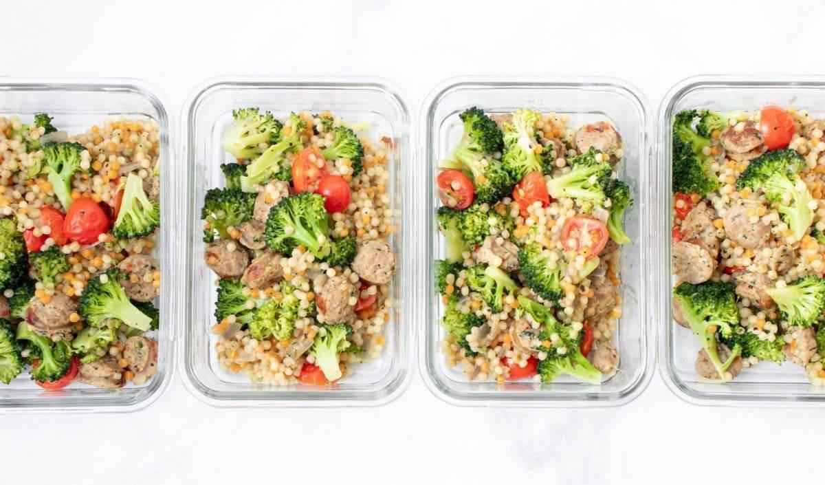 Broccoli Sausage Couscous One Pot Meal
