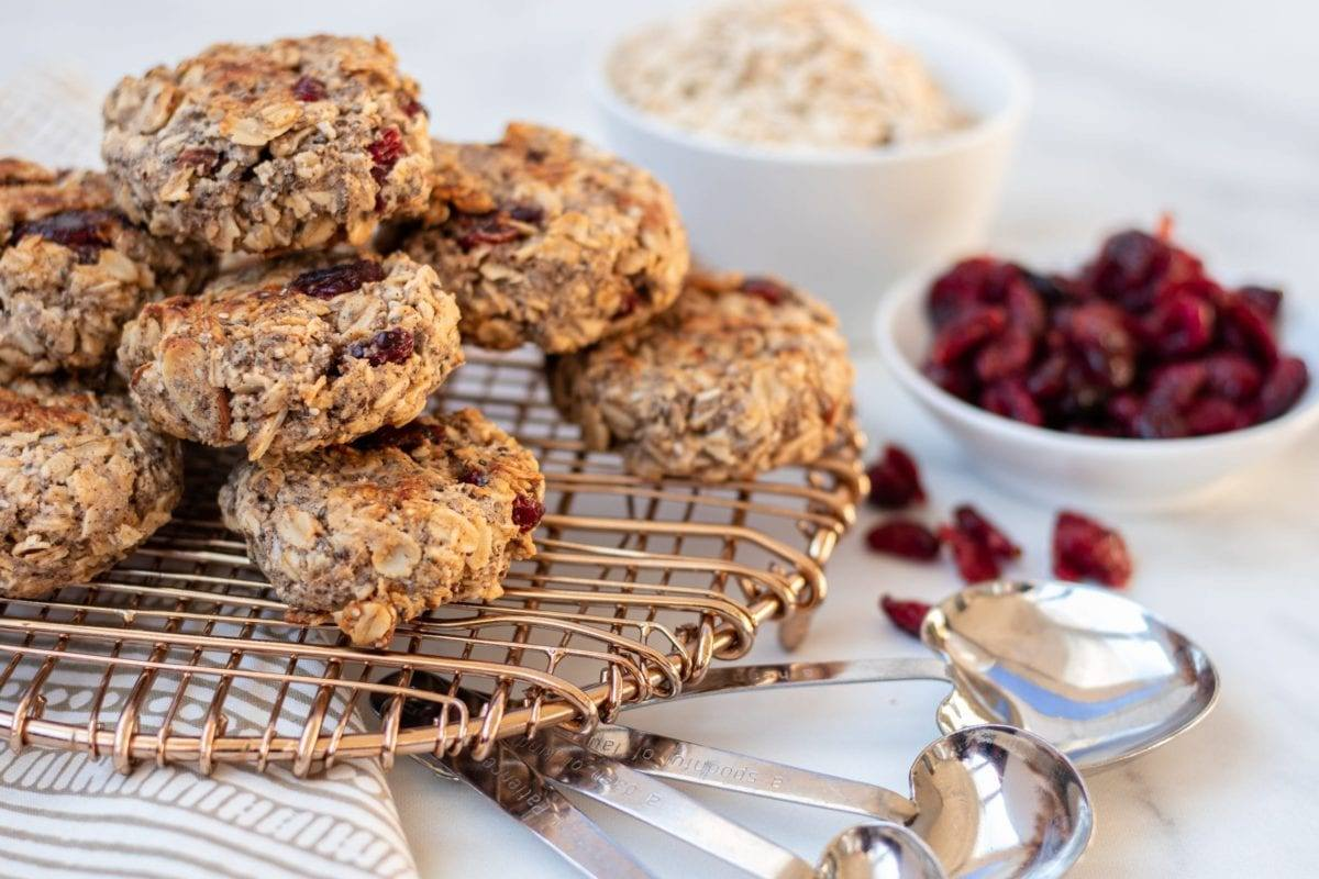 Cranberry Oatmeal Breakfast Cookies