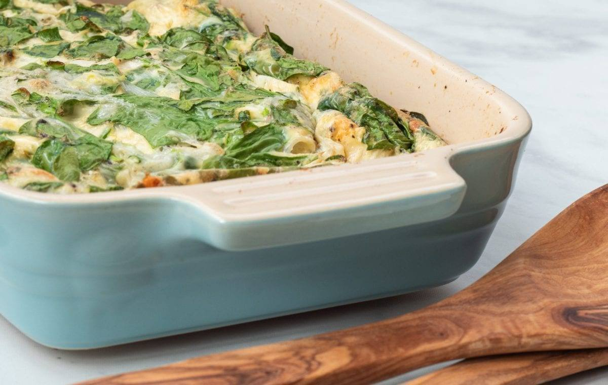 Spinach and Mozzarella Egg Casserole