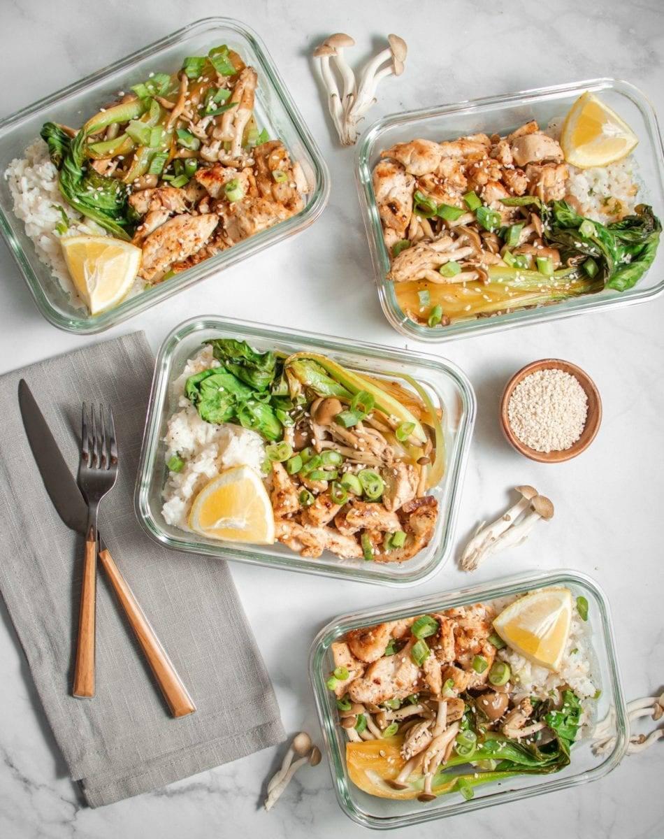 Chicken Bok Choy and Beach Mushrooms