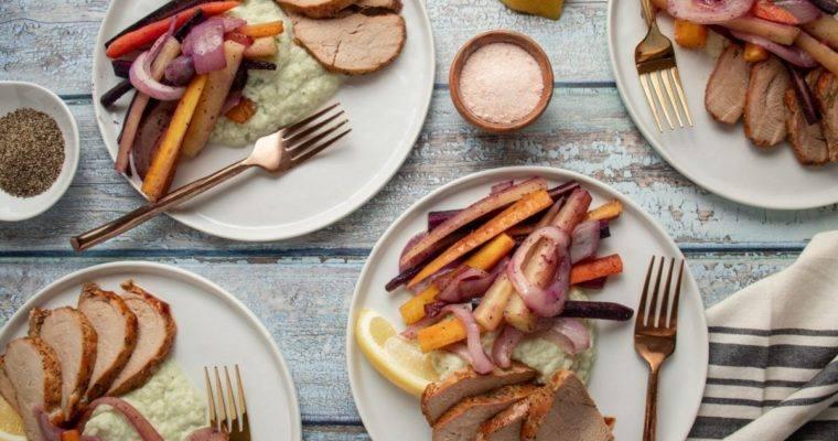 Pork Tenderloin with Rainbow Carrots