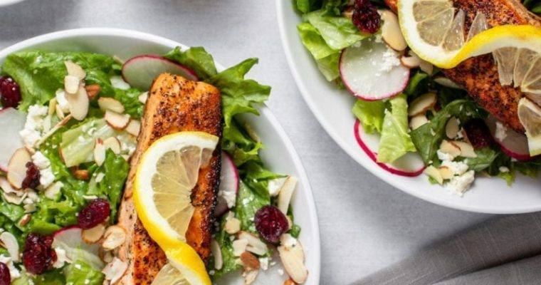 Salmon Cranberry Radish Salad