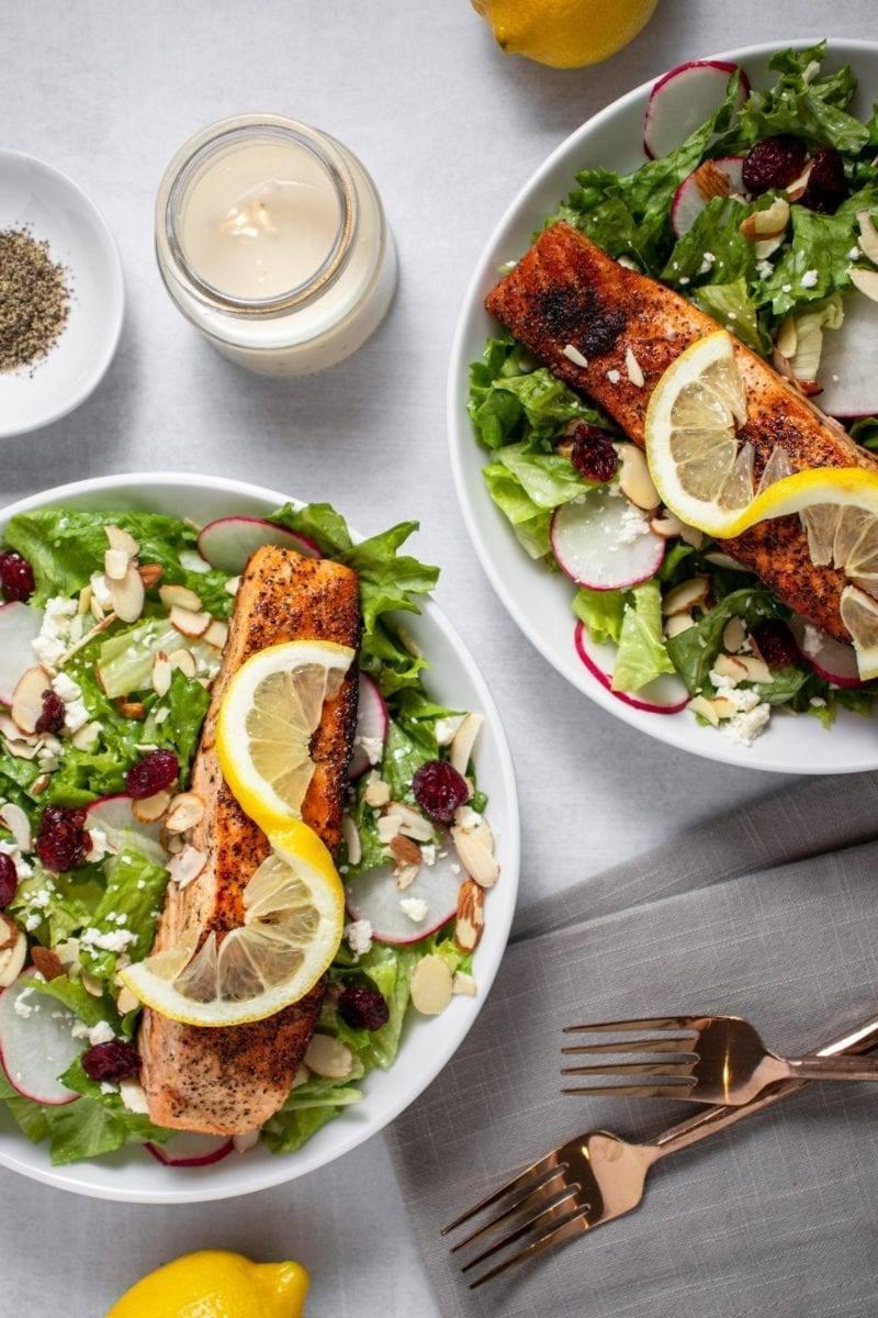 Salmon Cranberry Radish Salad