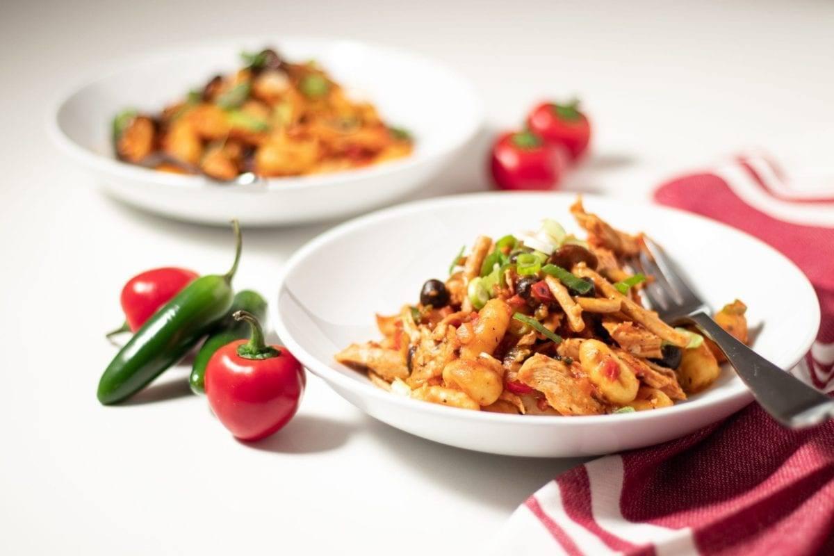 Spicy Chicken with Tomato Gnocchi