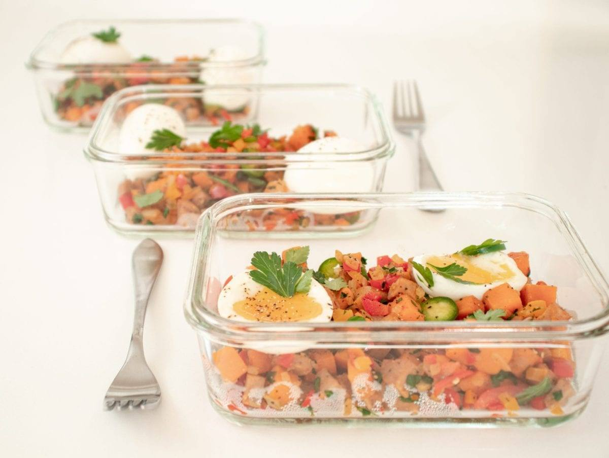 Sweet Potato with Chicken Sausage Hash Meal Prep Meal Planning Counting Macros