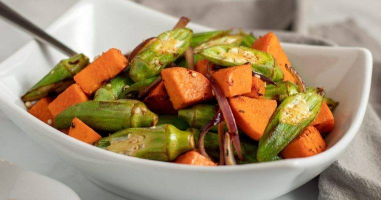 Sweet Potato and Okra the Perfect Side