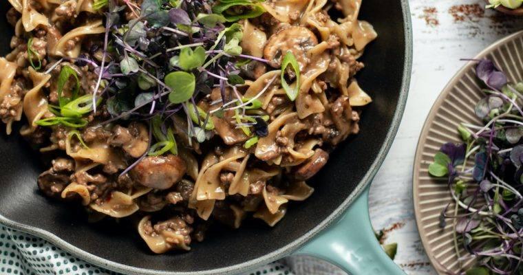 One Pot Beef Stroganoff Recipe