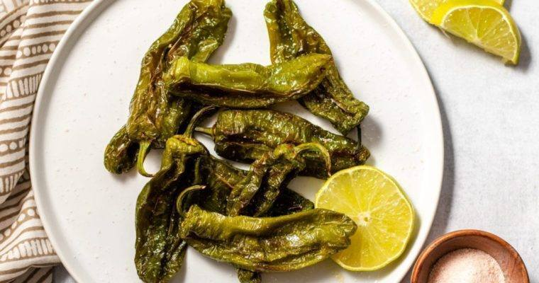 Easy Blistered Shishito Peppers snack air fried meal plan