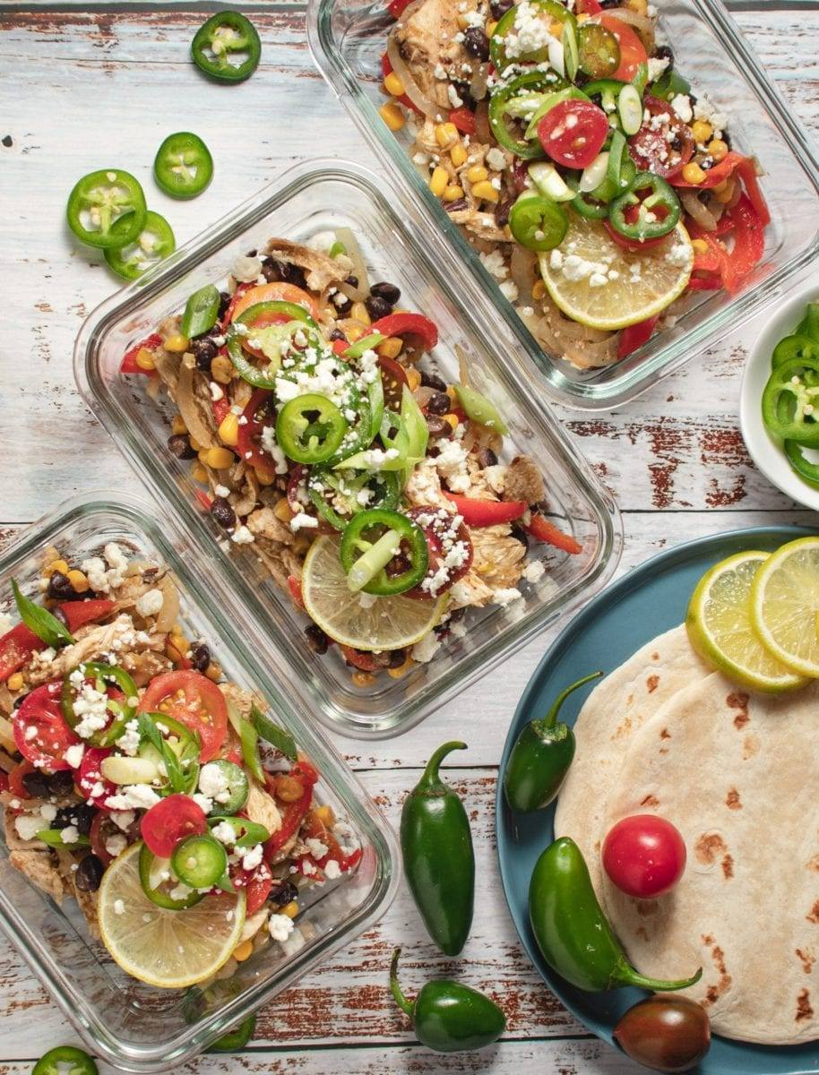Chicken Burrito Skillet Recipe Meal Prep Meal Plan Counting Macros One Pot Meal Low Carb