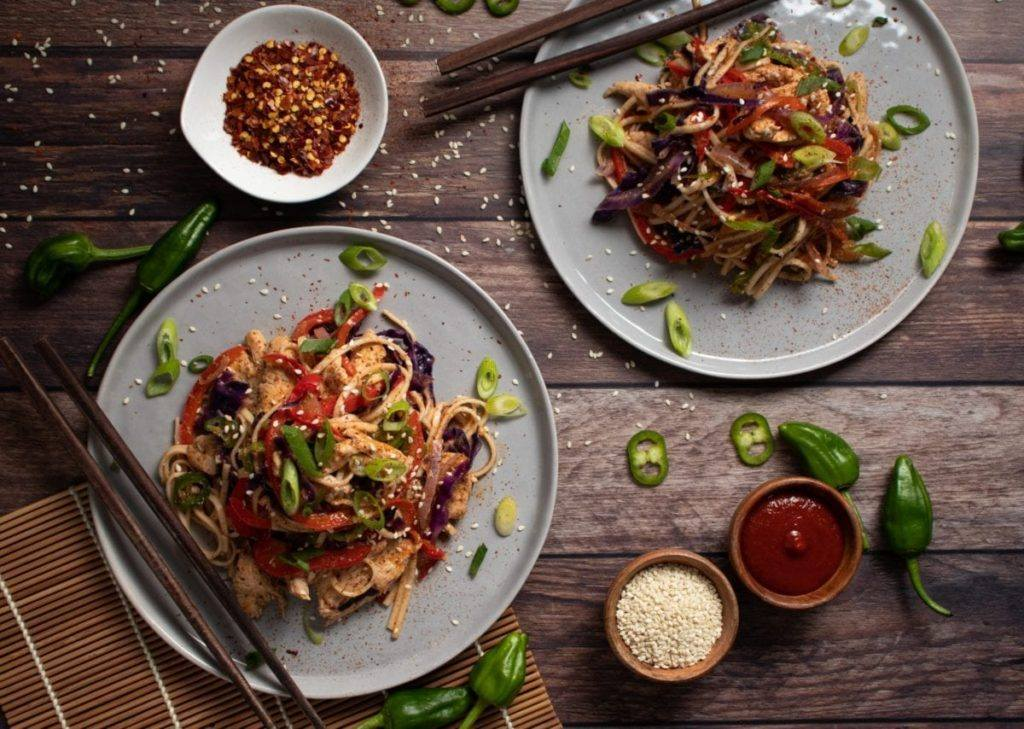 Coconut Thai Chili Noodle Bowl Meal Planning Meal Prep Counting Macro