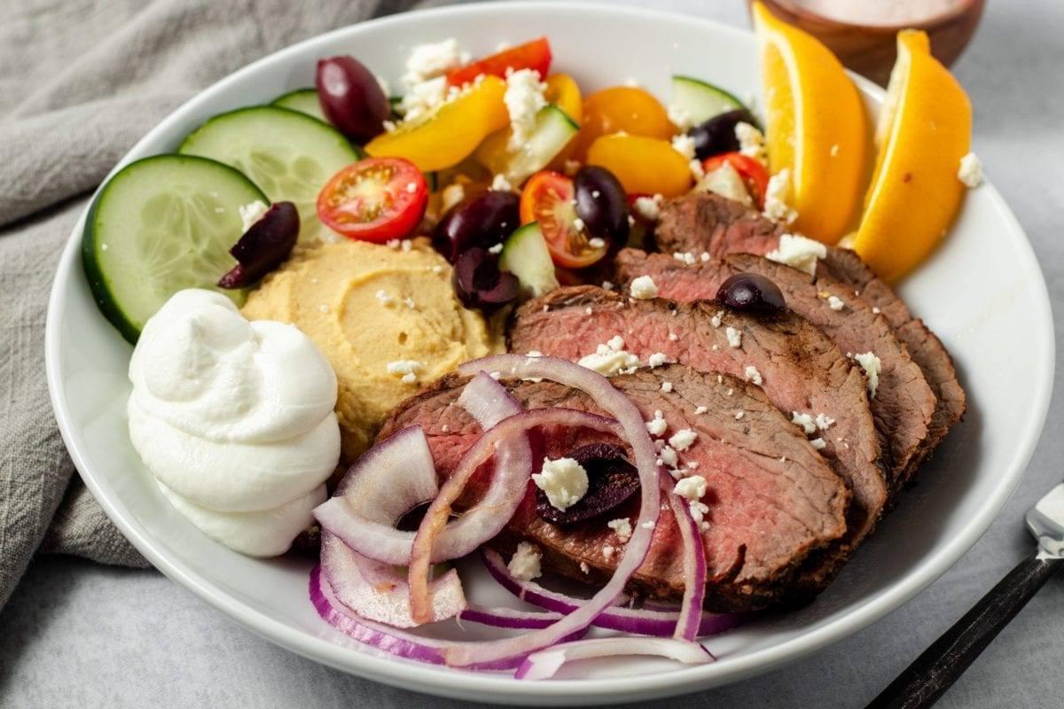 Mediterranean Tri-Tip Steak Bowl
