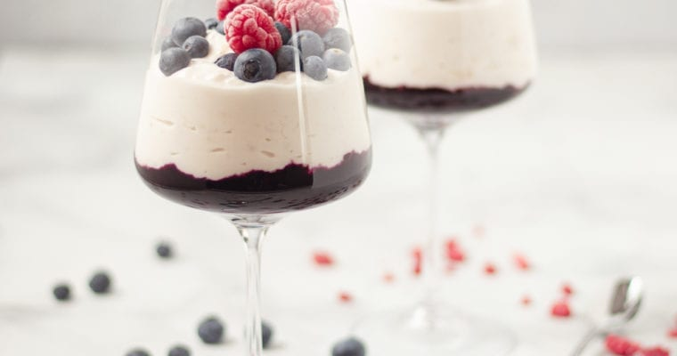 Healthy, Blueberry Compote, Banana Yogurt Parfait