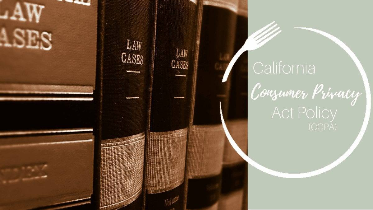 California Consumer Privacy Act (CCPA) Policy