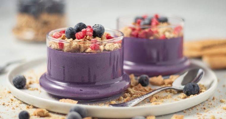 Easy, No Bake Blueberry Cheesecake Parfait