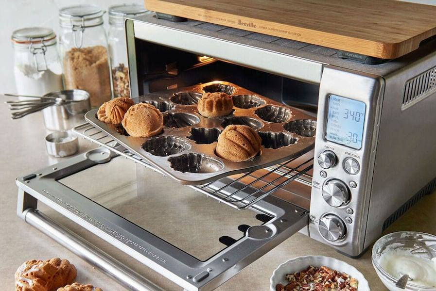 Reheating Meal Prepped Food in a Toaster Oven Stainless Steal Breville Toaster Oven Available at Sur La Table