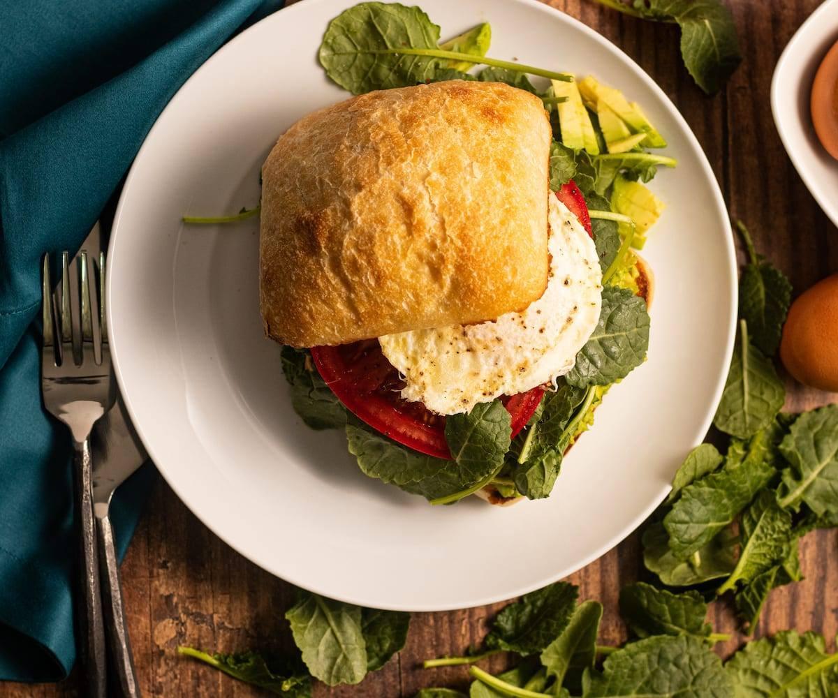 Egg & Avocado Breakfast Sandwich