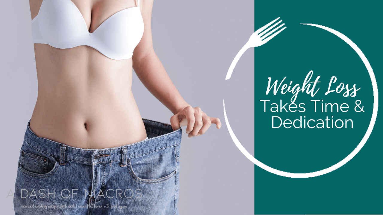 Weight Loss Takes Time and Dedication, Reach your Goals!